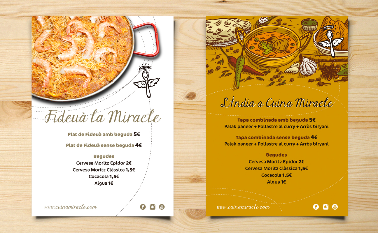 Diseño Gráfico Cuina Miracle